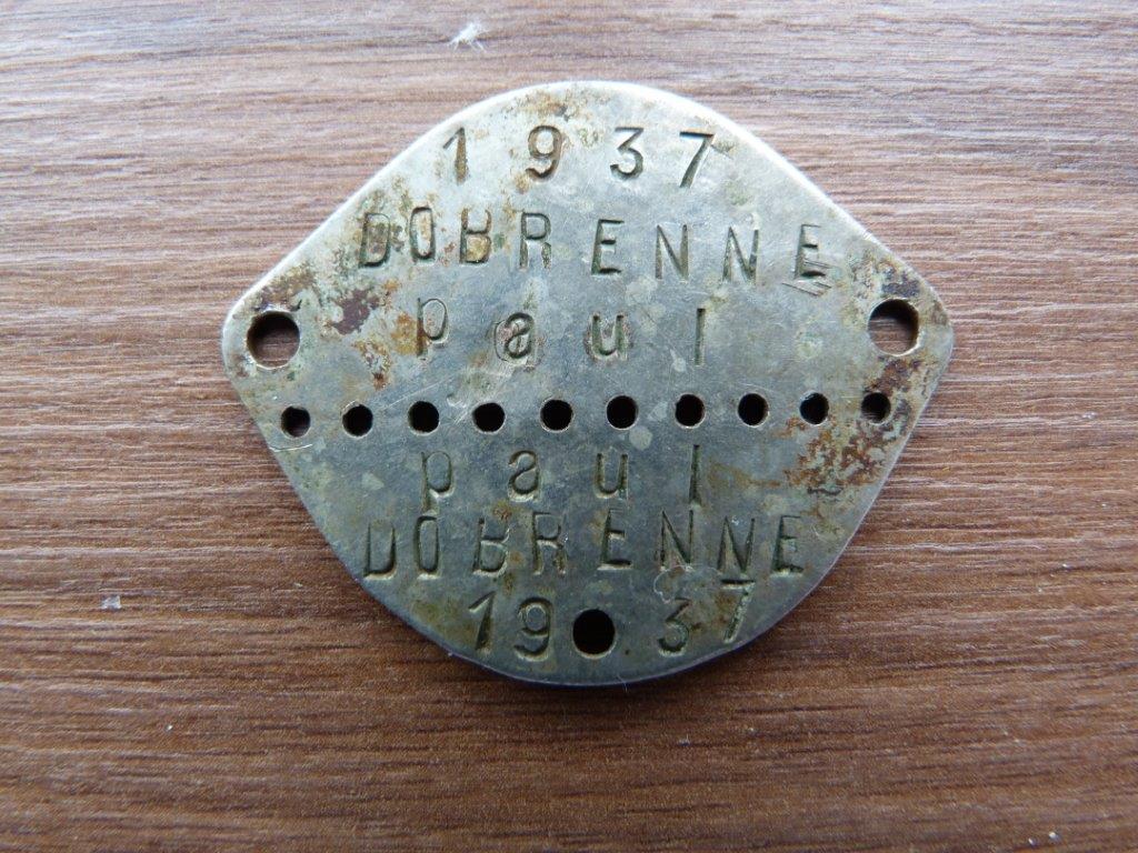 15 plaque identite paul dobrenn recto