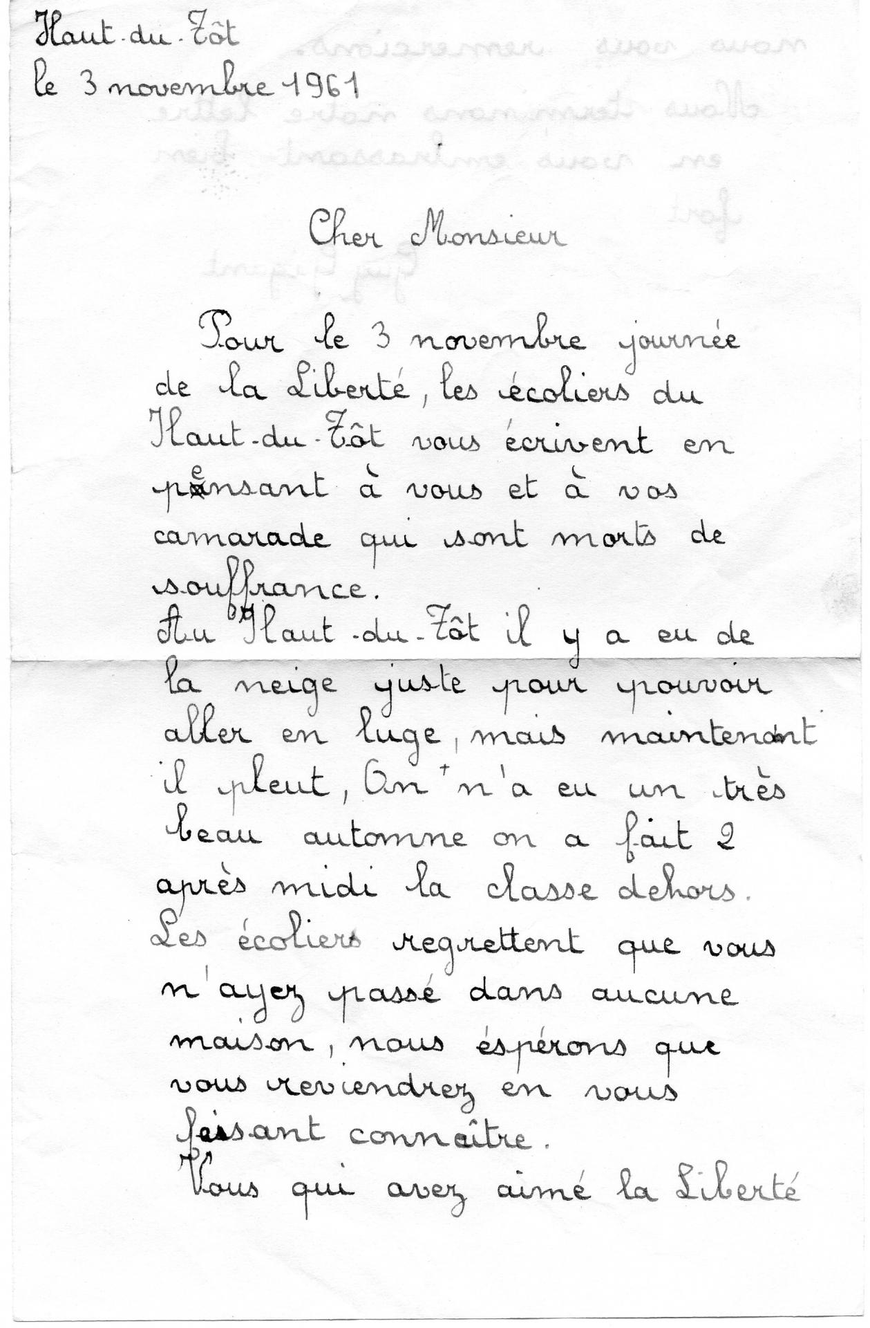 Lettres d eleves haut du tot 1961 001